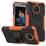 MRSTER Moto E4 Plus Hülle, Outdoor Hard Cover Heavy Duty
