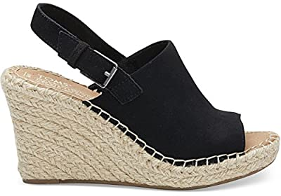 TOMS Women's TRVL Lite Slip-On Shoe (7.5 M US, Black Suede)