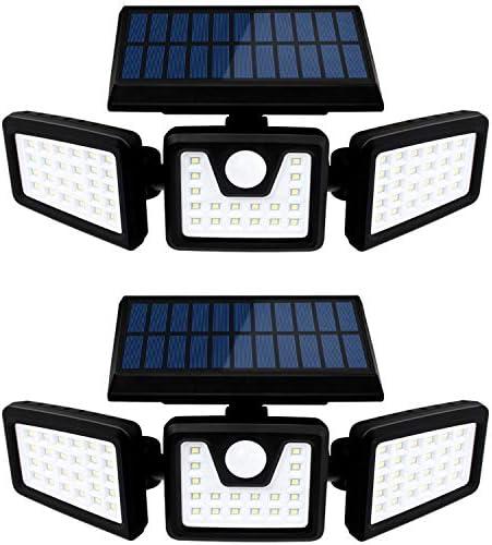 Otdair Solar Security Lights 3 Head Motion Sensor Lights Adjustable 70LED Flood Lights Outdoor product image
