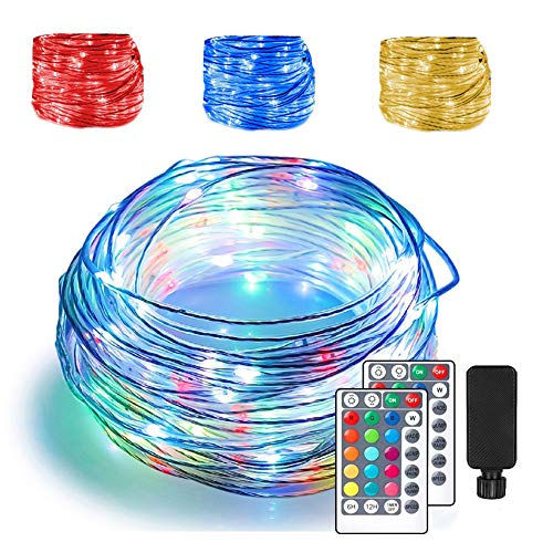 66ft LED Rope Lights Outdoor String Lights with 200 LEDs,16 Colors Changing Waterproof Starry Fairy Lights Plug in for Bedroom,Indoor,Patio,Home Decor
