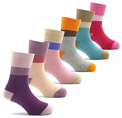 Girls Seamless Cotton Socks Atheletic Sport Kids Toddler Socks 6 Pack 8T/9T/10T
