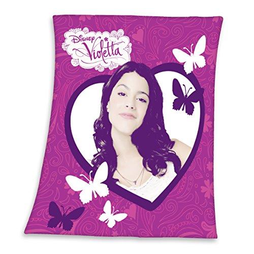 Herding 7531058033 Fleecedecke Disney's Violetta, Größe: 110 x 140 cm, 100 % Polyester