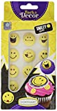 Günthart - Dekor Zuckerfiguren Smileys gelb 12 Stück - 12g