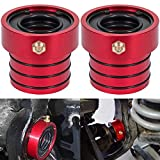 MG21103 Dana 30/44 Front Axle Tube Seal Pair Fit For Jeep Cherokee 1984-2001 / Grand Cherokee 1984-2001 / TJ 1997-2006 / Wrangler 1987-2018 (Except 1996) (2PCS Red)