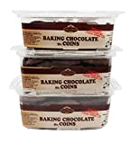 King David Kosher Easy Melt Non-dairy Baking Chocolate Coins 12.34-ounce Jars (Pack of 3)