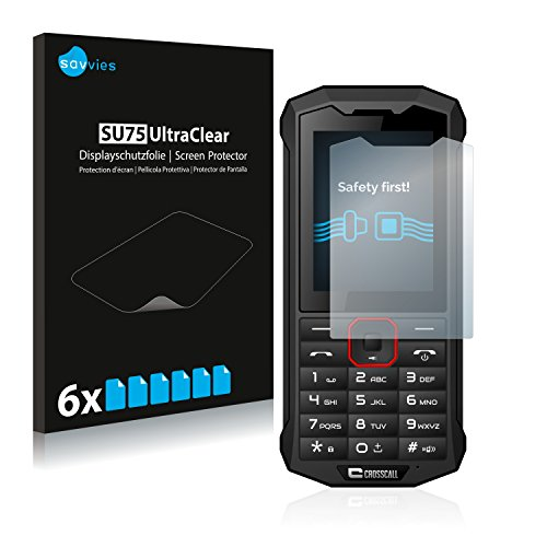 Savvies 6X Schutzfolie kompatibel mit Crosscall Spider X4 Bildschirmschutz-Folie Ultra-transparent