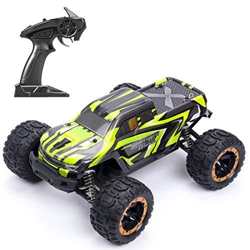 YYGE Coche teledirigido 2.4G RC 4WD 45KM/H todoterreno monstruo todoterreno con faros LED, escala 1:16, sin escobillas, para adultos y niños