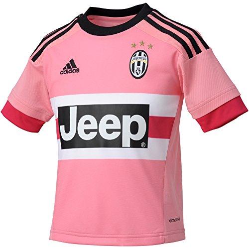 adidas Kinder Juventus Turin Trikot Auswärt 2015/2016, pink/schwarz/weiß, 128