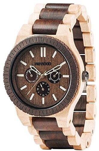 WEWOOD Armbanduhr Holz Multifunktions-Uhr Kappa Choco Crema 9818080 Herren