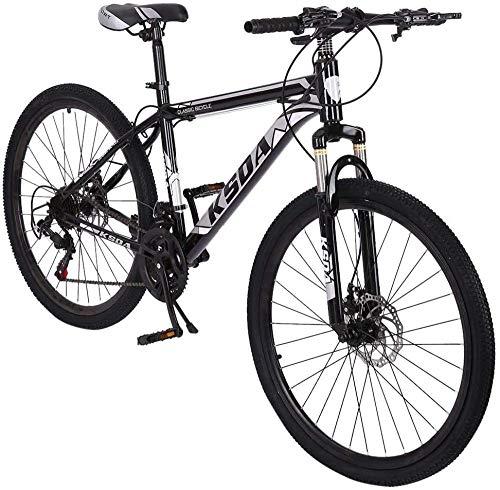 SYCY Bicicleta de montaña de 26 Pulgadas y 21 velocidades Bicicleta de montaña de Acero al Carbono Completo Bicicletas de Carretera de suspensión Completa con Frenos de Disco Bicicleta