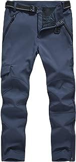 Gopune Men's Outdoor Snow Ski Waterproof Pants Hiking Fleece Lining Softshell Cargo Pant