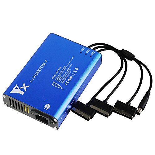 Yangers DJI Phantom 4 Pro Ladegerät, Smart- Multi Batterie Schnell Gleichgewicht Ladegerät für 3 Batterien Aufladen & Fernbedienung Transmitter (EU-Stecker)