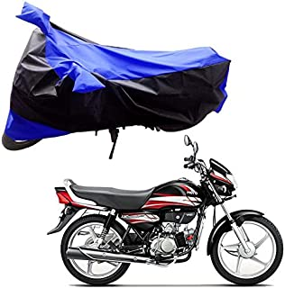 AdroitZ Bike Covers, Bike Body Cover for Hero Hf Deluxe in Black and Blue