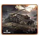 Konix World of Tanks MP-10 - Alfombrilla de ratón para Juegos (320 x 270 x 3 mm, antideshilachamientos, Alfombrilla Antideslizante de Goma con Contorno Trenzado, código de Bonus en Juego Incluido
