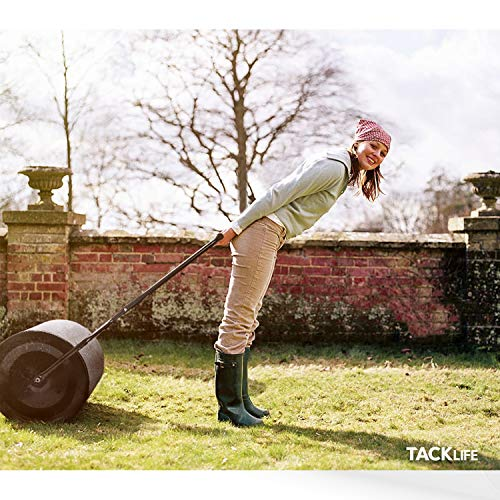 TACKLIFE Lawn Roller, Tow Behind Water Filled Roller Push for Garden, Yard, Dark Green 16 by 20-inch HR60L