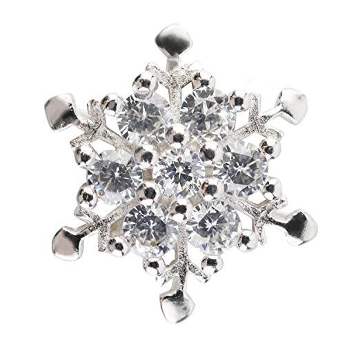 Greatangle Modedesign 2 Farben Kristall Schneeflocke Versilberung Halskette Anhänger (Kette ist Nicht im Lieferumfang enthalten) weiß