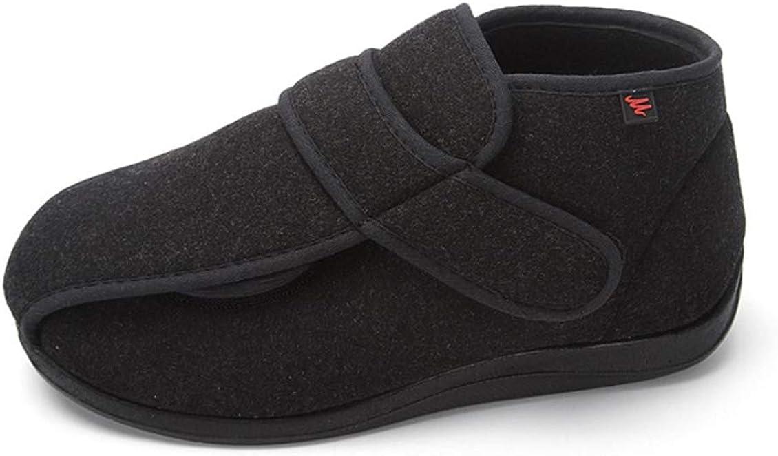 FLYFO Zapatos de la Diabetes Hombres, Zapatos ortopédicos, Artritis hinchazón, Zapatos Anchos-con, de Gran tamaño, cómodo, Transpirable y Ajustable,42