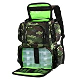 Lixada Tackle Backpack Multifunctional Fishing Tackle Utility Bag Water-Resistant Fishing Bag with Rain Cover, 4 Fishing Gear Trays (Optional)