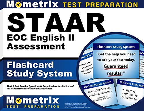 Staar Eoc English Ii Assessment Flashcard Study System Staar Test Practice Questions Exam Review For The State Of Texas Assessments Of Academic Readiness Cards