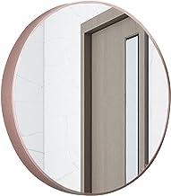 MU Lustro ścienne łazienkowe, duże okrągłe metalowe lustro ramowe, lusterko do makijażu kosmetyczki do sypialni, łazienki,...