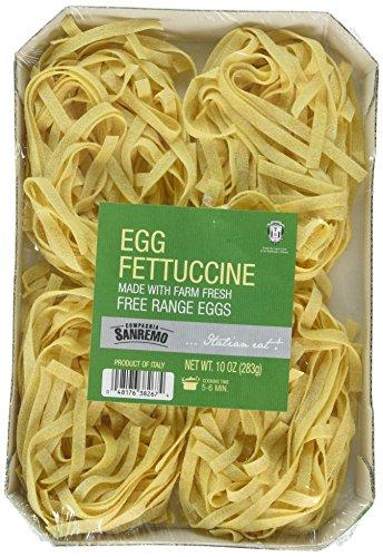 Compagnia Sanremo Pasta San Remo Italian Egg Fettucine Pasta - Non-Gmo, Free...