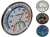 O&W Security Termómetro con higrómetro analógico analógico de temperatura y...