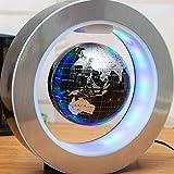 QPOWY Novedad Led Redondo Mapa del Mundo Globo Flotante Levitación magnética Luz Antigravedad Magia/Novela Lámpara Plasma Bola de Plasma