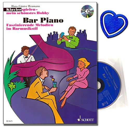 Bar Piano - beliebte Barmusik-Klassiker von George Gershwin, Fats Waller, Cole Porter, Bert Kaempfert, Antonio Carlos Jobim - Klavier Noten mit CD und Notenklammer - ED9679 9783795756475