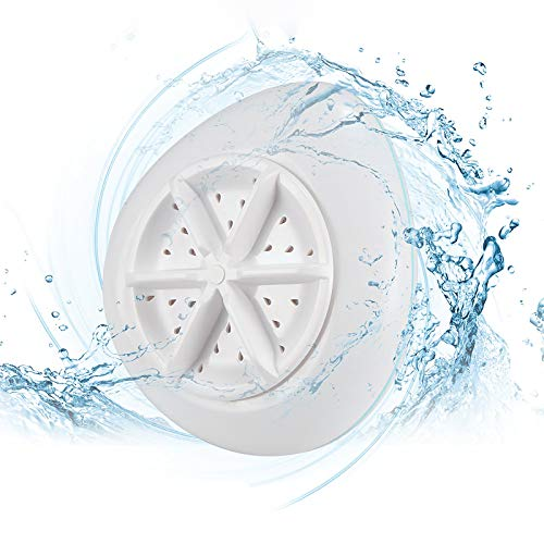 Powstro Mini lavatrice per dormitorio, lavatrice a turbina ad ultrasuoni Dispositivo di lavaggio portatile a risparmio idrico USB Asciugatrice centrifuga, lavatrice da viaggio