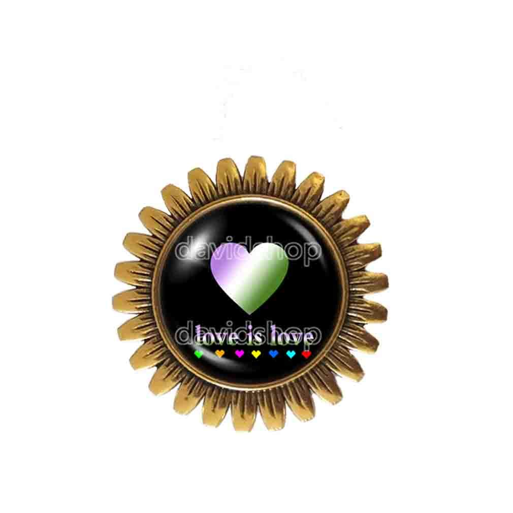 Love Is Luxury Genderqueer Pride Brooch Badge Limited price Fashion Pin Jewelry