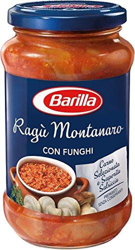 6x Barilla Ragù Montanaro pastasauce tomatensauce mit Pilze 400g aus italien