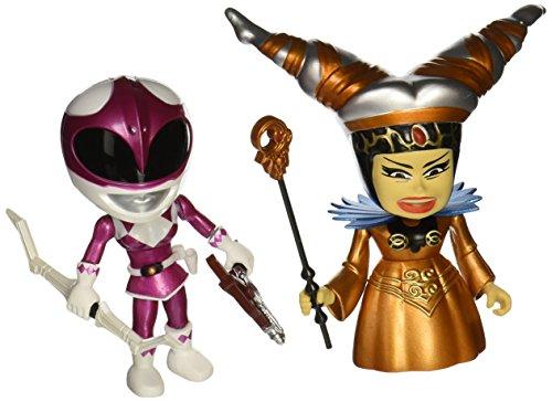Mighty Morphin Power Rangers ninja pack 2 figurines Metallic Rita vs Pink Ranger 8 cm