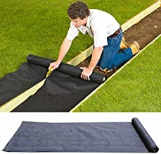 INMOZATA Weed Barrier Landscape Fabric Heavy Duty, 4FT x 300FT Woven Weed Control Ground Cover Membrane for Greenhouses, Garden Stakes, Under Pathways, Driveways, Black