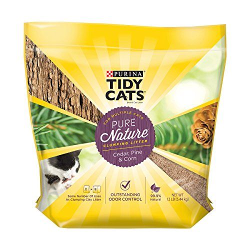 Purina Tidy Cats Natural Clumping Cat Litter, Pure Nature Cedar, Pine &...
