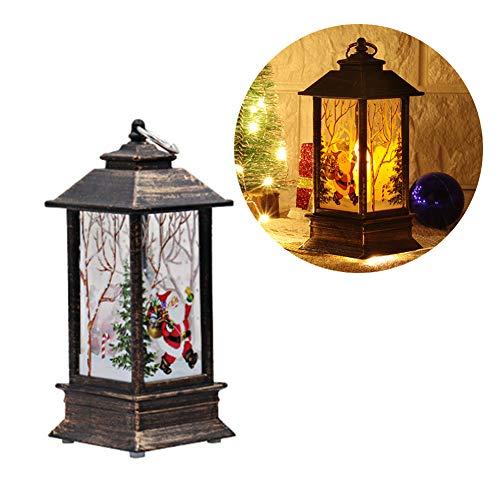 HMLIGHT Retro Weihnachten LED-Nachtlicht Kerze-Lampen-Weihnachtsschneemann-Rotwild-Weihnachtsmann Hochzeit im Freien Feiertags-Party-Dekoration Hang Bar,C