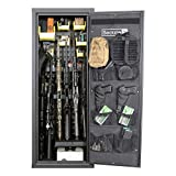 Secure It Gun Storage Agile Ultralight Gun Safe: Model 52 Pro - Holds 6 Firearms and Includes CradleGrid Tech, A Heavy Duty Cabinet with Keypad Control