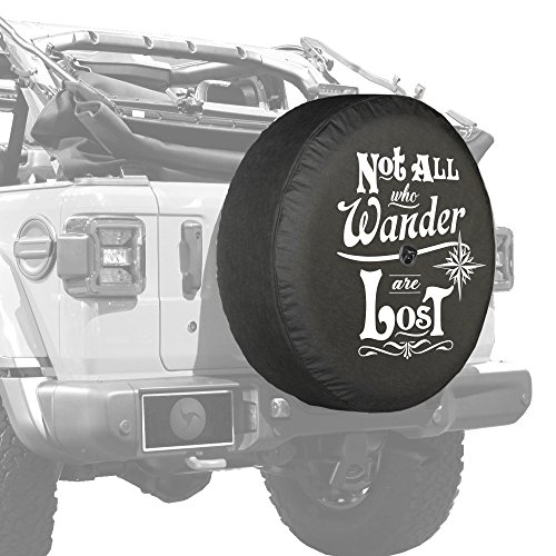 "Boomerang - 32"" Soft JL Tire Cover for Jeep Wrangler JL (with Back-up Camera) - Sport & Sahara (2018-2020) - Not All Who Wander are Lost"
