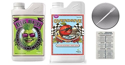 Advanced Nutrients Big Bud and Overdrive 250 ml with Conversion Chart and 3ml Pipette-250 ml