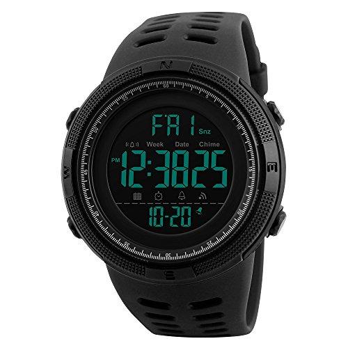 SKMEI Digital Men's Watch (Black Dial, Black Colored Strap)