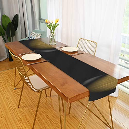 Camino de mesa de patio Pantera de Jaguar negro Ojos hermosos Camino de mesa de casa de campo Camino de mesa de comedor largo Para cocina de oficina Comedor Fiesta de boda Decoracion de mesa de cafe