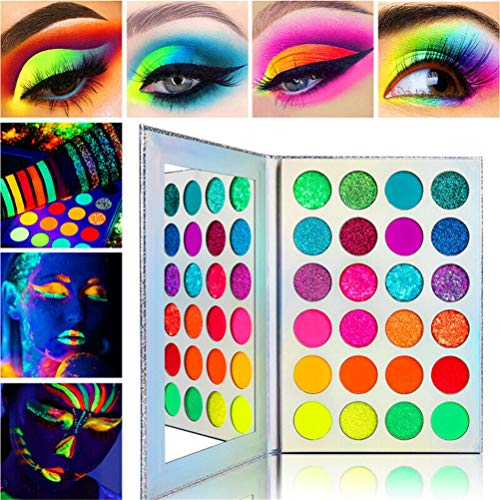 Inmindboom Neon Bunte Lidschatten-Palette, Glitter Matte Lidschatten-Palette Make-up Pigment...