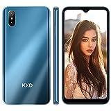 Android 4G Teléfono Móvil Libre KXD D58 Smartphone LibreTeléfono Móvil Dual SIM 2GB+32GB, Pantalla 6.22' Water-Drop Screen Movil Barato 13MP+2MP+5MP, 4000mAh Batería, Azul