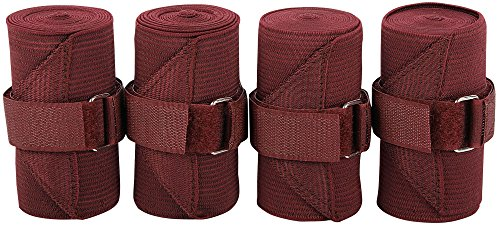 Harry's Horse Bandages elastisch, 4 st, Farbe:Bordeaux