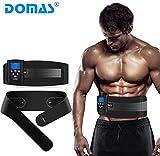 DOMAS EMS AB Muscle Stimulator Belt, Adjustable Electronic Muscle Toning Waist Trainer, 8