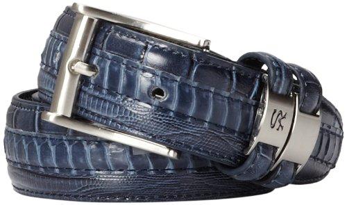Stacy Adams Cinturón de piel de lagarto con hebilla para hombre de 32 mm