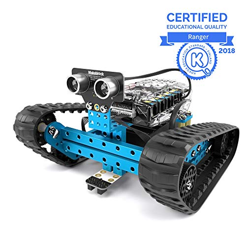 Makeblock mBot Ranger, Robot Giocattoli, Robot Bambino educativo 3-in-1, Tre Moduli, Versione Bluetooth, Blu, Steam Education