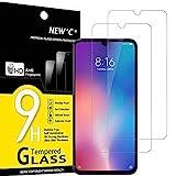 NEW'C 2 Pezzi, Vetro Temperato Compatibile con Xiaomi Mi 9, Pellicola Prottetiva Anti Graffio, Anti-Impronte, Durezza 9H, 0,33mm Ultra Trasparente, Ultra Resistente