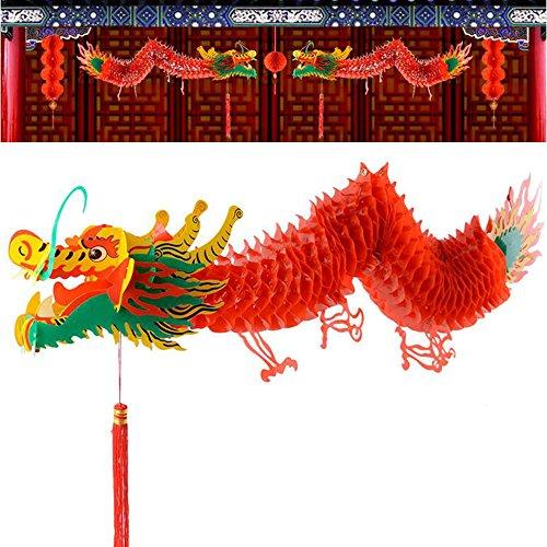 Univegrow Nouvel an Chinois Dragon Plafond Décoration 91.8\
