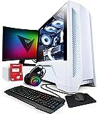 Vibox VI-48 Gaming PC SG-Series - 24' 144Hz Pack Monitor Curvo - Intel i7 11700F Procesador - RTX 3060 Ti 8Gb Tarjeta Grafica - 32Gb RAM - 1TB NVMe M.2 SSD - Windows 10 - WiFi
