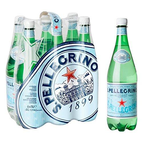 Agua mineral con gas San Pellegrino 6 x 1L